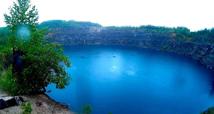 Голубое озеро в Темиртау