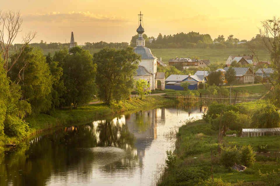Вид на город Суздаль